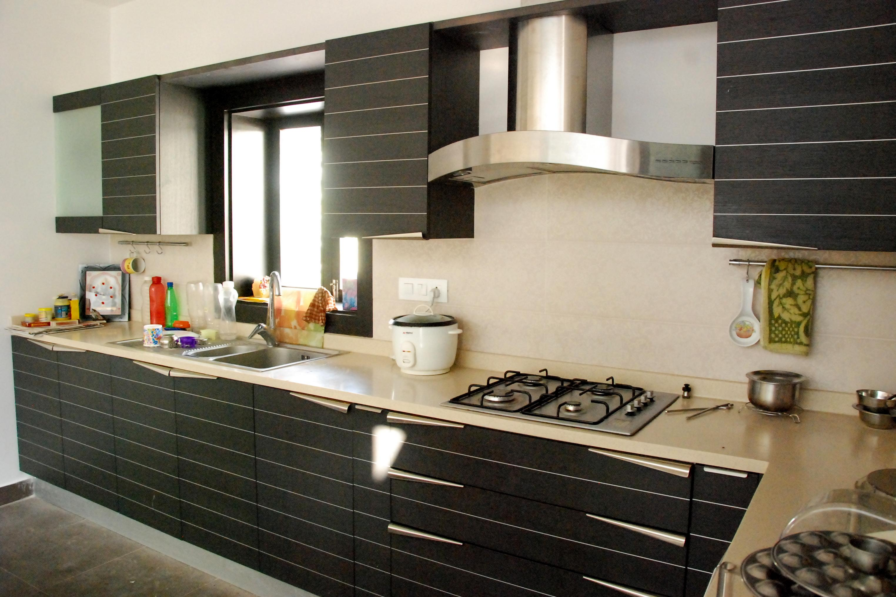 Black Kitchens Cabinets Modular Kitchen Gharexpert