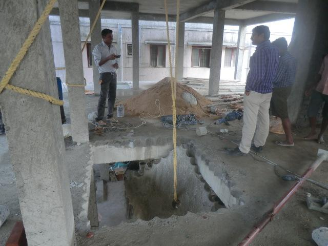 Concrete Roof Slab Cutting Using Core Cutting Machine