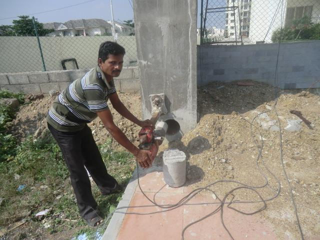 concrete column core cutting w....
