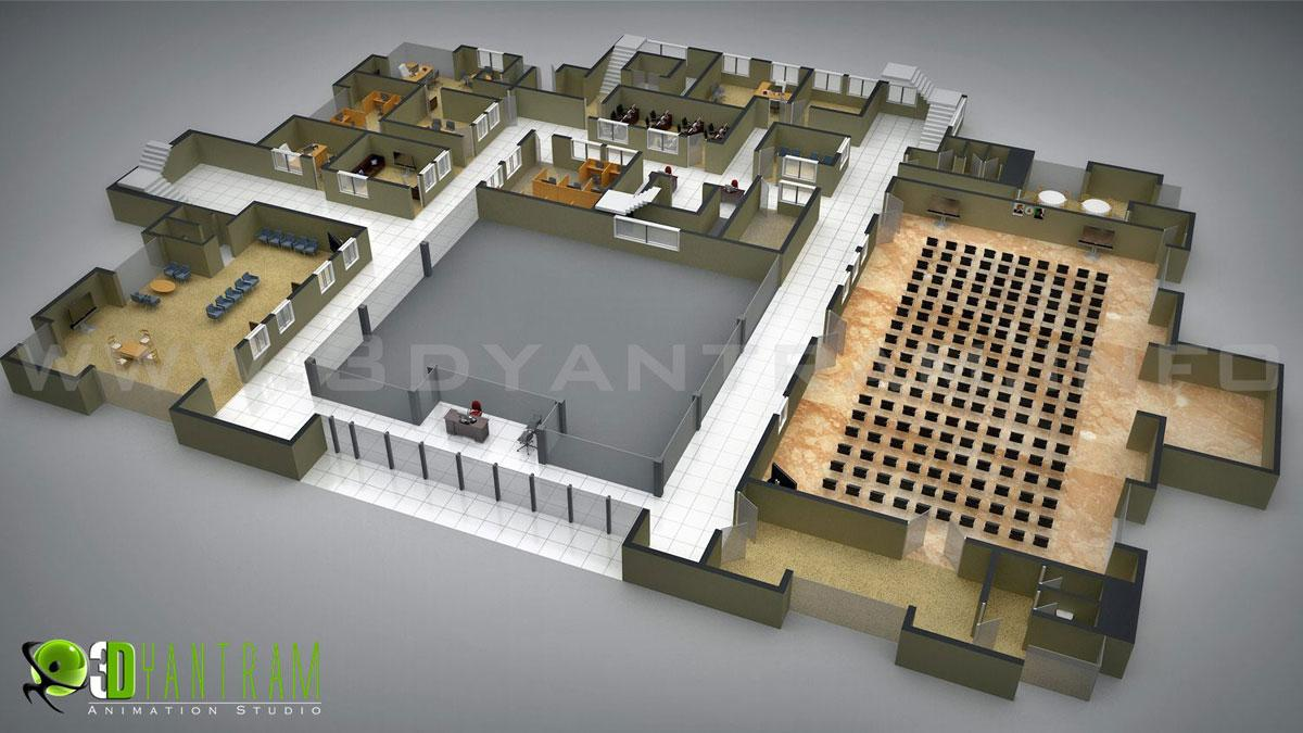 Commercial 3D Floor plan Desig....