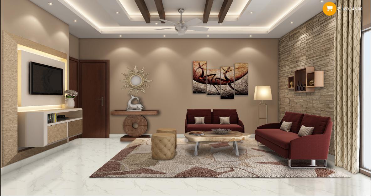 Modernn Sleek Living Room Design Gharexpert