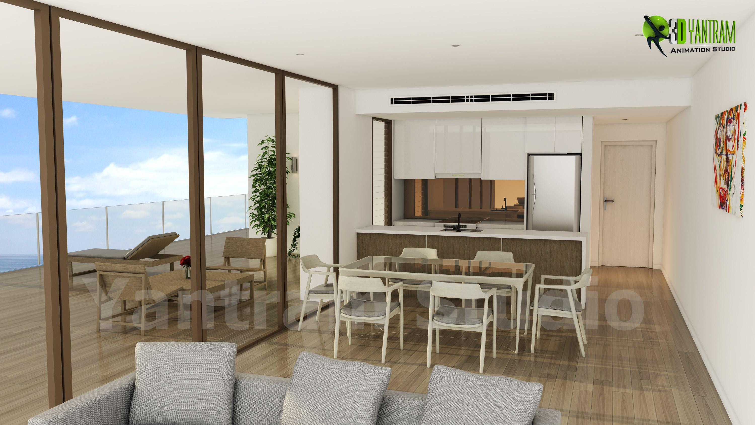 Residential 3D Interior Kitche....