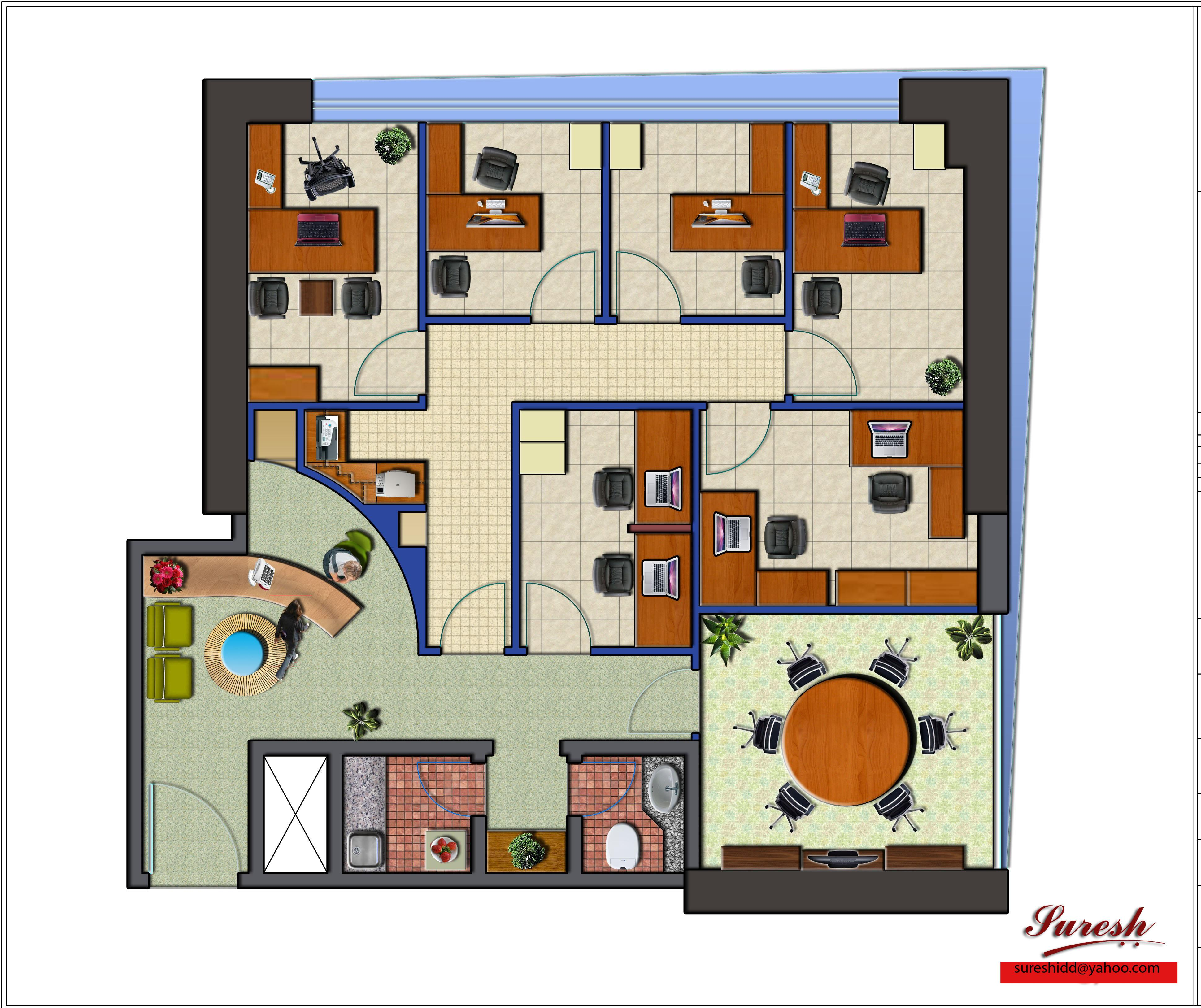 Office layout gharexpert for Office furniture layout planner