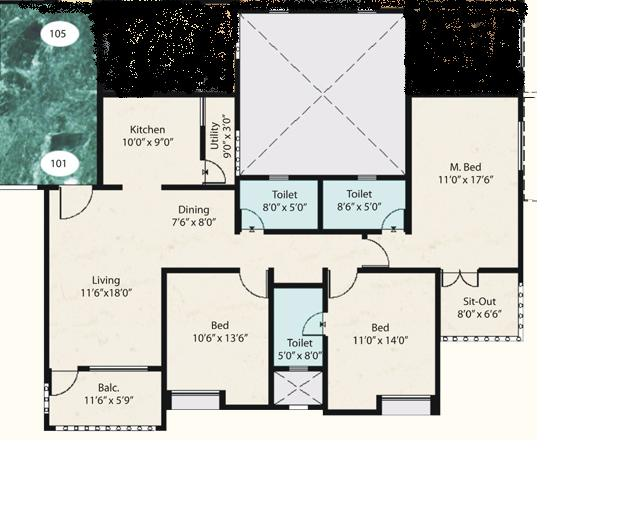 3 Bedroom House Layout GharExpert