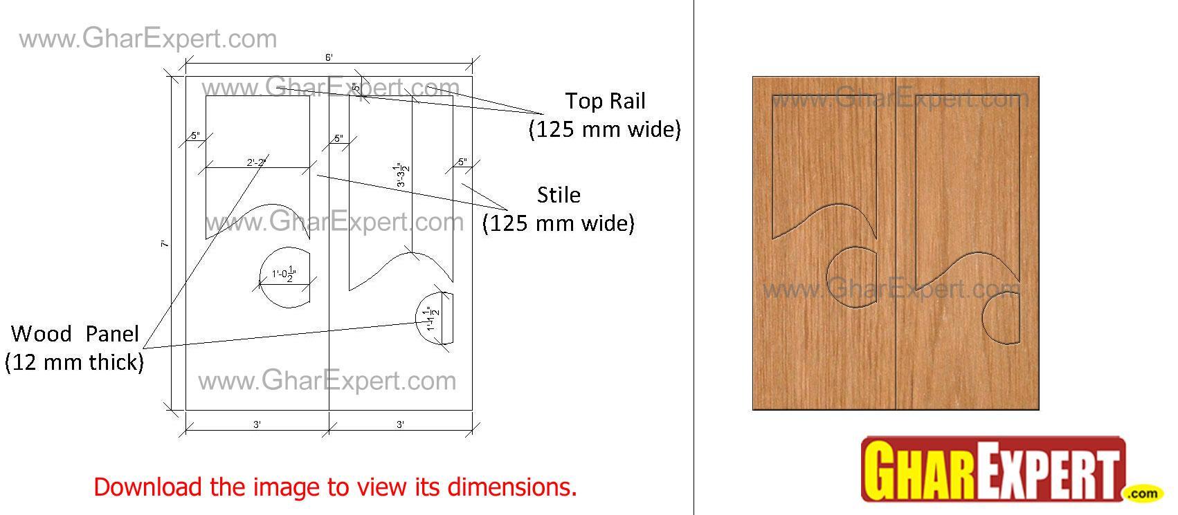 Minimal design wooden door