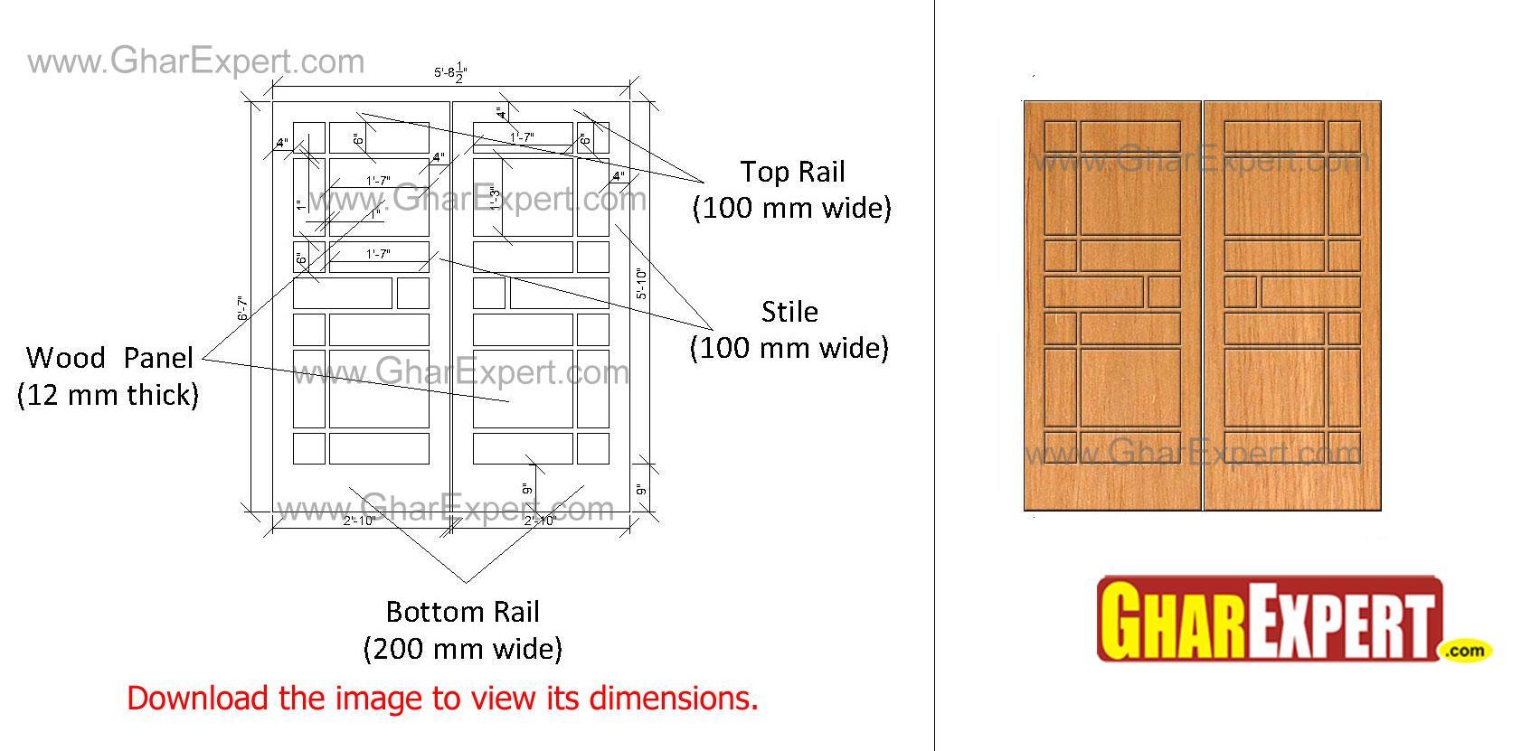 Different wooden door design
