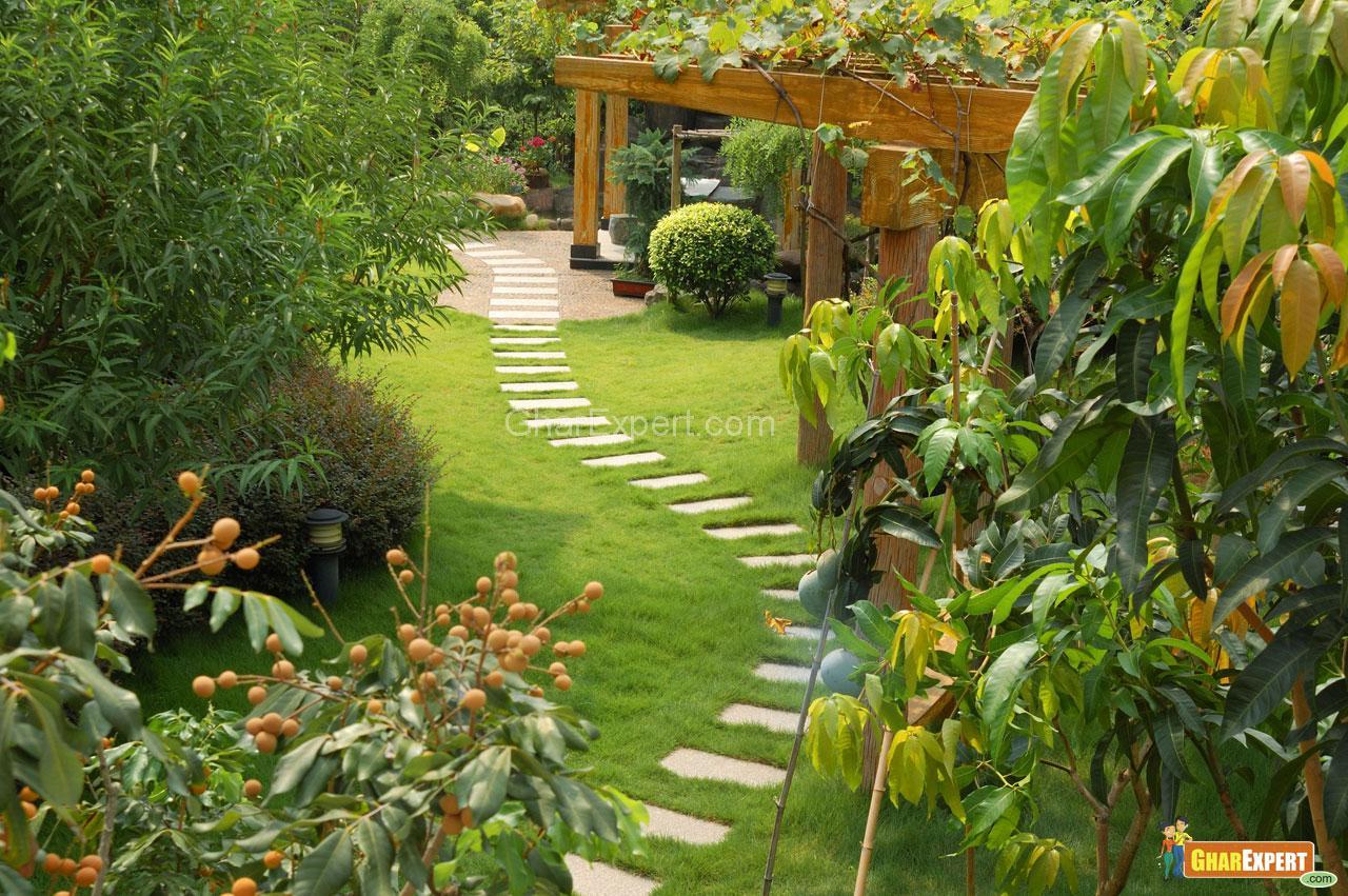 Beautiful footways in Garden