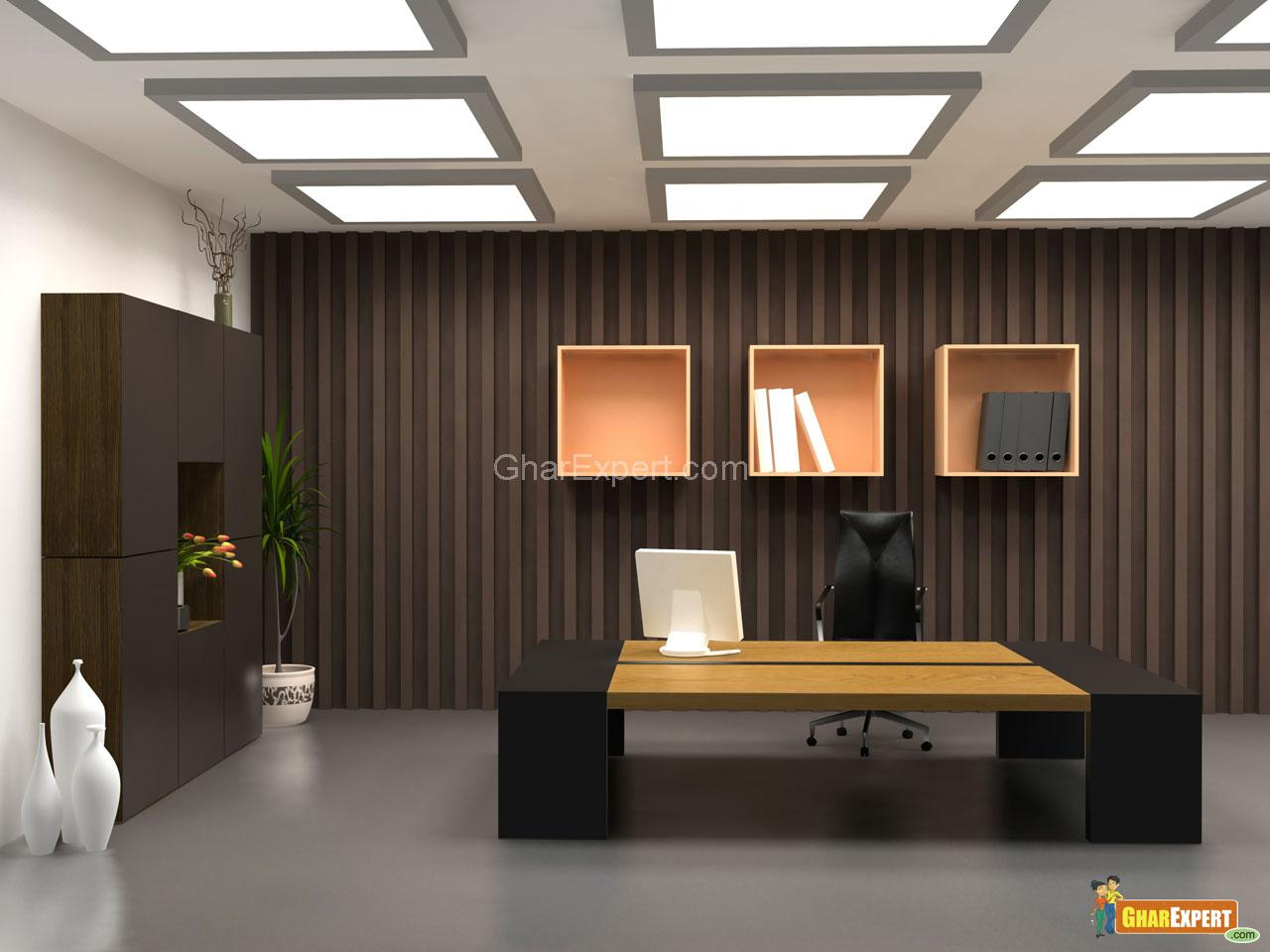 Office interior gharexpert for Interior designs of offices