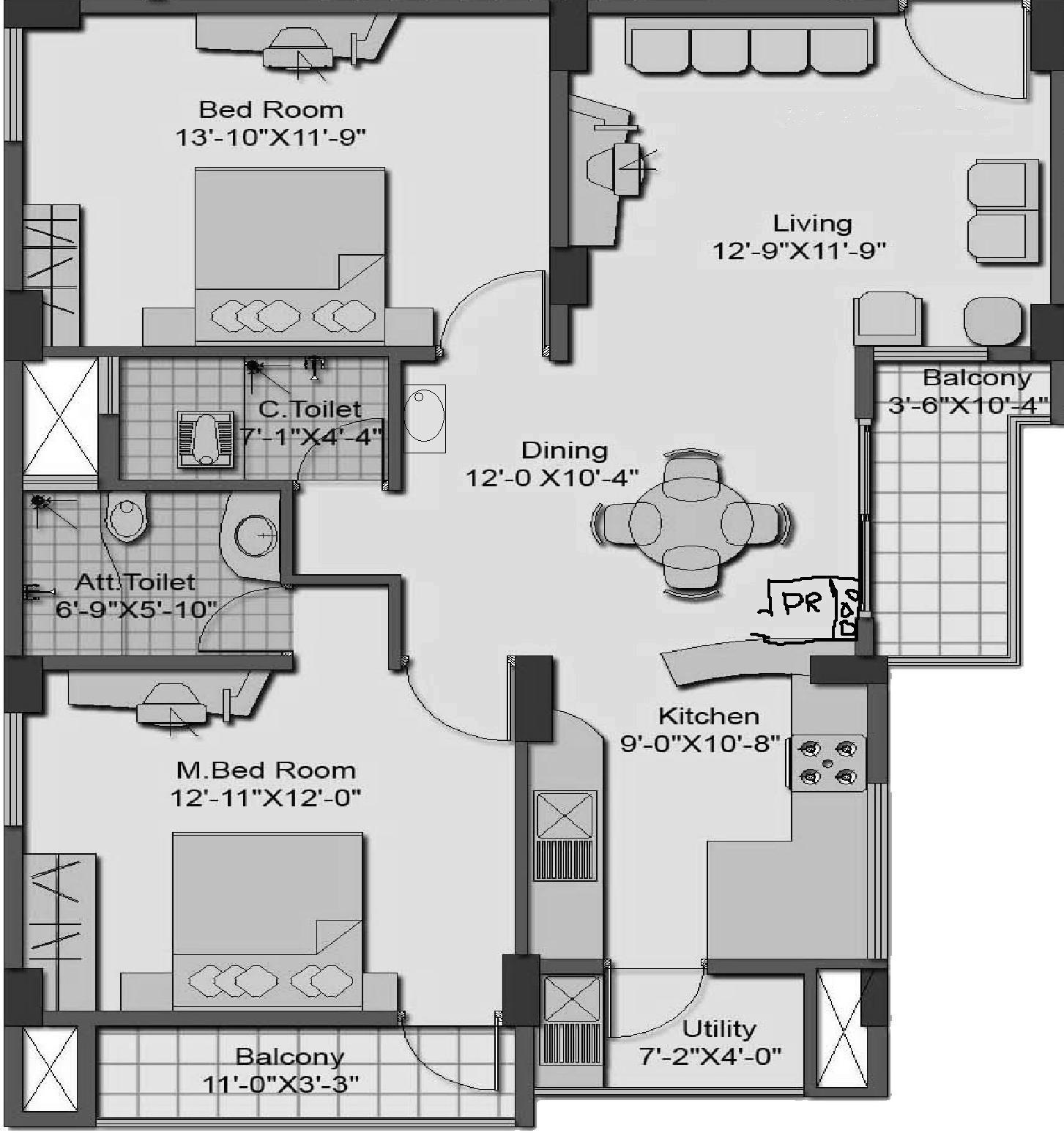 Vastu plan apartment gharexpert for Apartment plans as per vastu