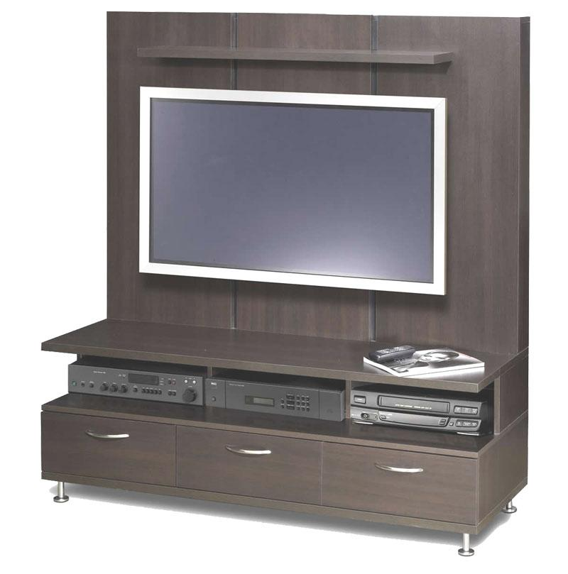 Lcd Tv Stand Designs Wooden : Lcd tv stand designs with full wooden board back to hide cables and