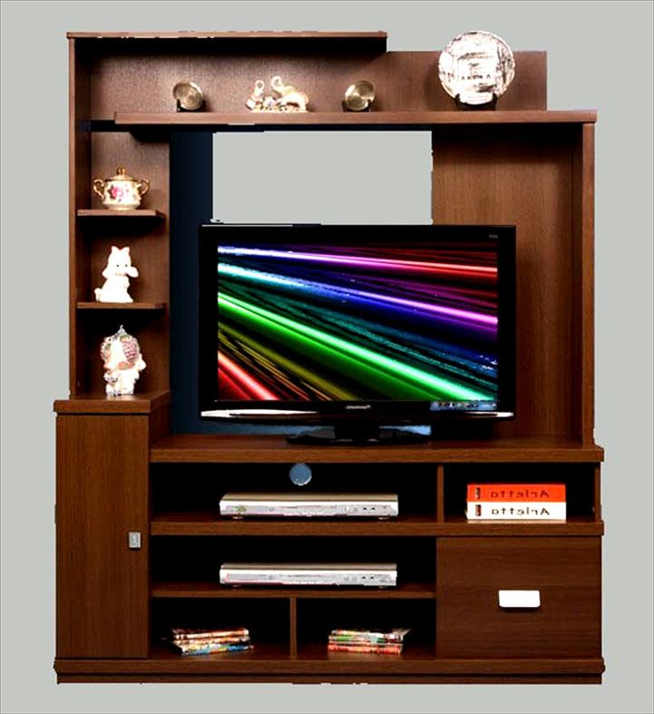wooden lcd unit design with mu....