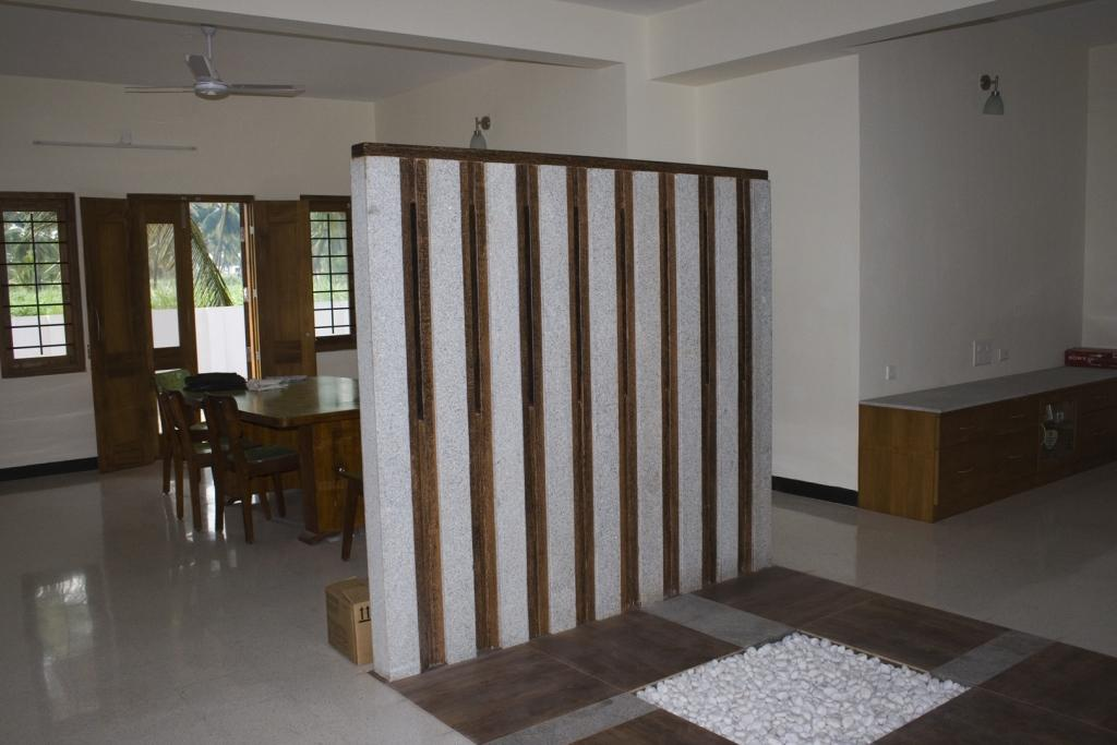 Living Room Partition Dining Room Gharexpert