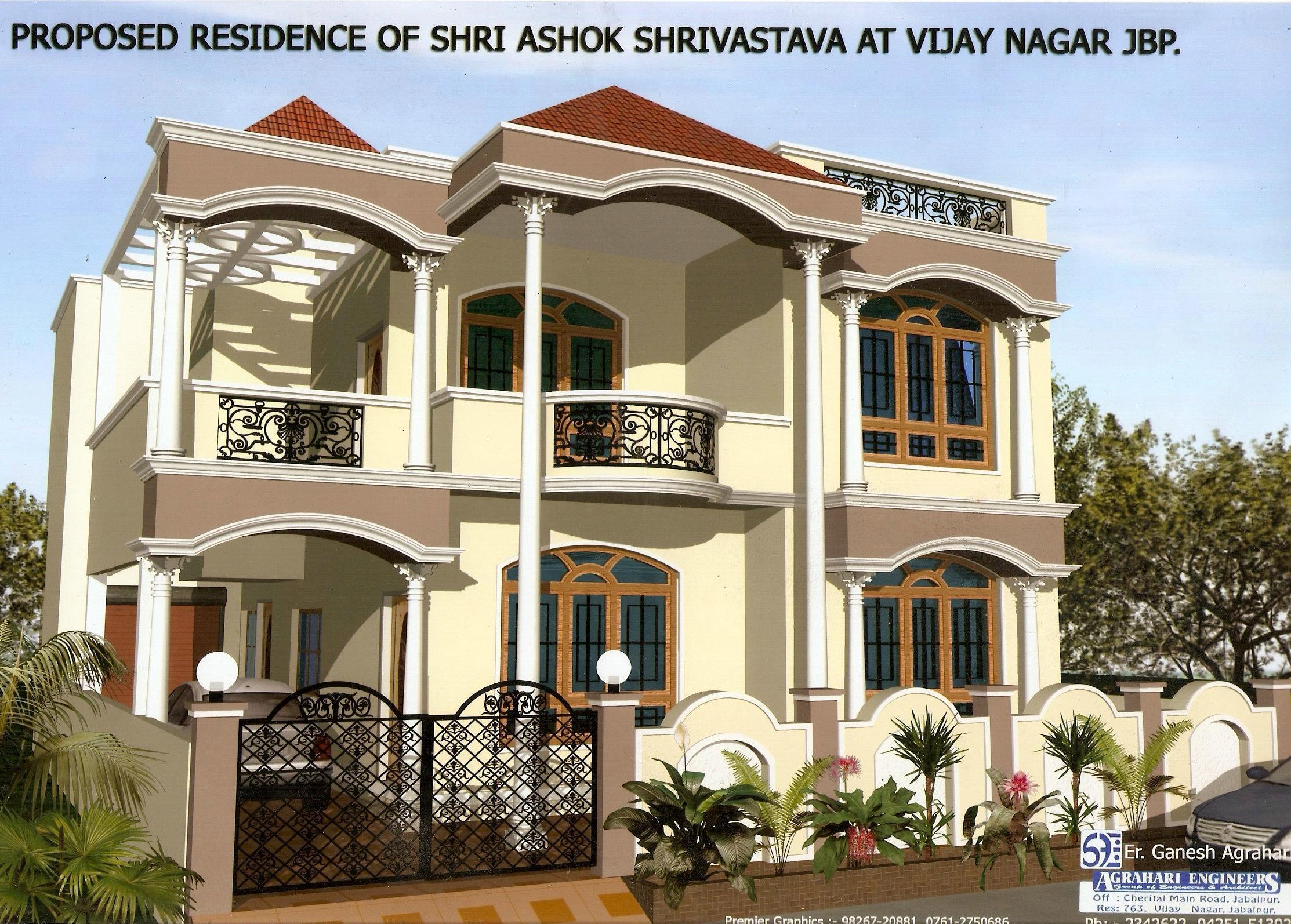 Elevation by er agrahari gharexpert for Latest kothi design