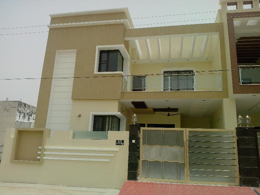 House Front Elevation With Gate : Front elevation picture of a story home with beautiful