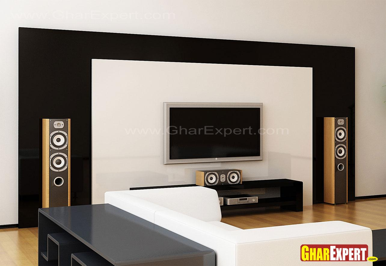 Lcd unit for living room gharexpert for Latest lcd wall unit designs
