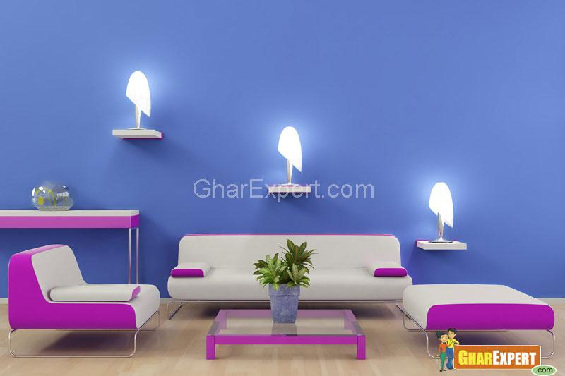 great elegant living with lights and purple color sofas gharexpert with cool colors for rooms - Blue Color Living Room