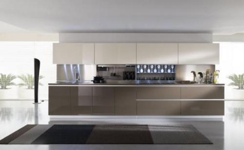 One wall open modern kitchen gharexpert for Modern one wall kitchen design