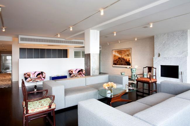 Living room of Lo-Scher Loft, ....