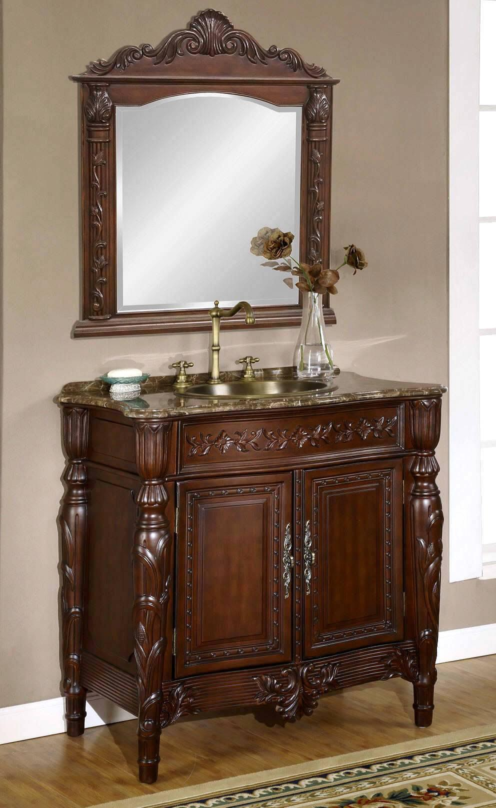 bath room mirrors and wooden c....