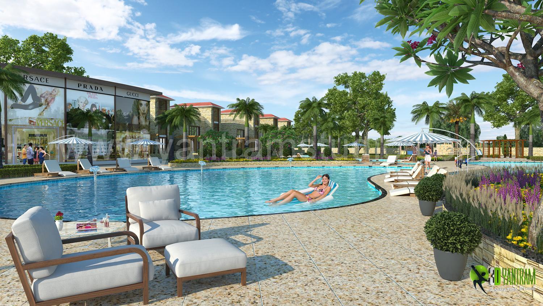 3D Exterior Rendering Resort a....