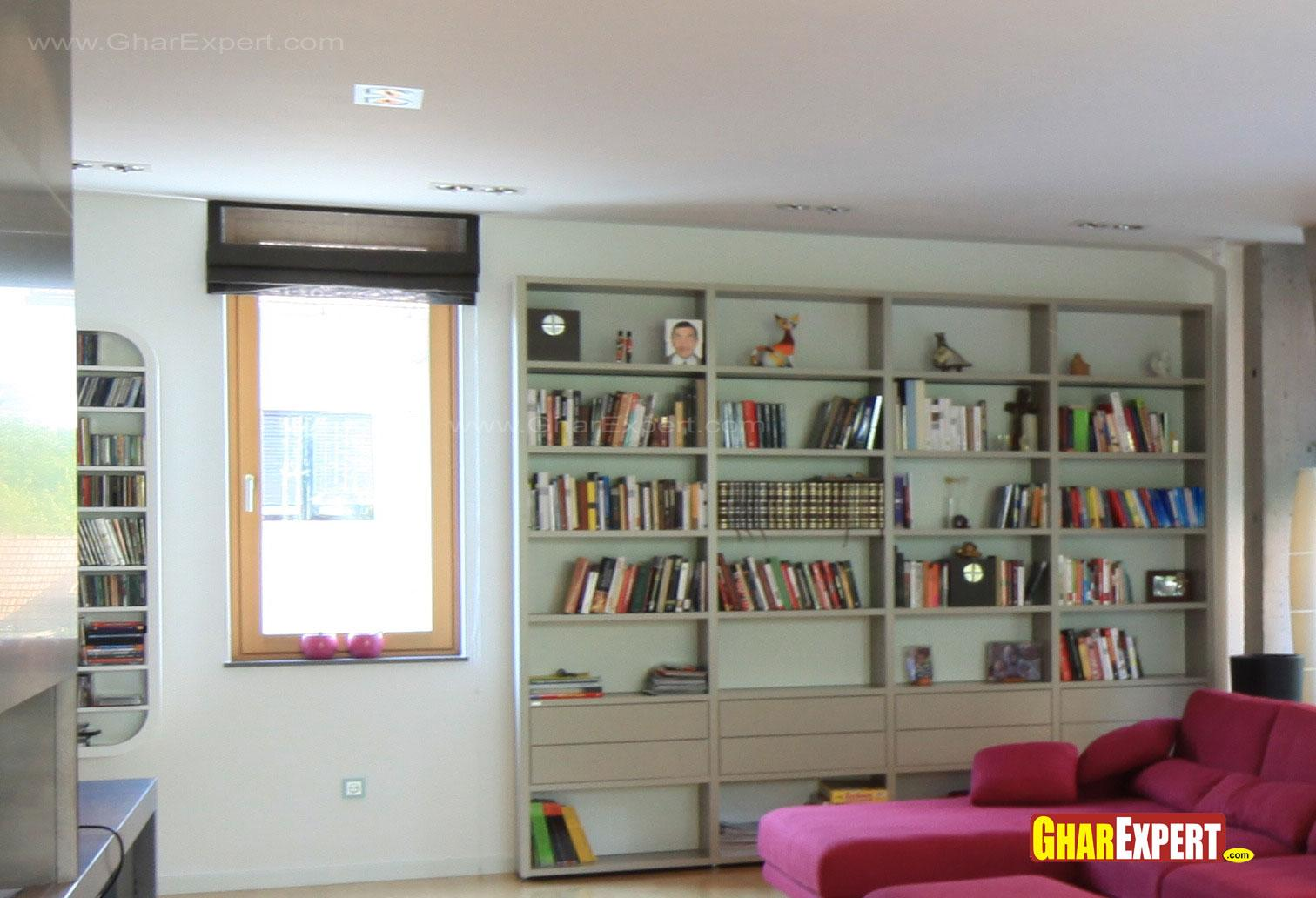 Wall unit for books in living ....