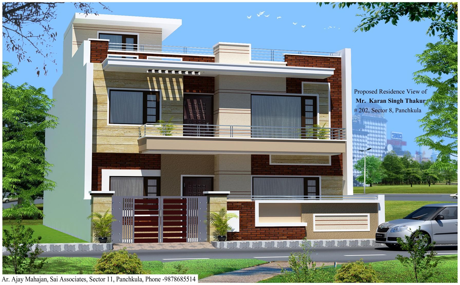 3d view of house at panchkula gharexpert 3d view home design
