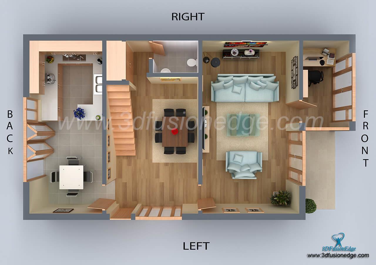 Design House 3D Floor Plan