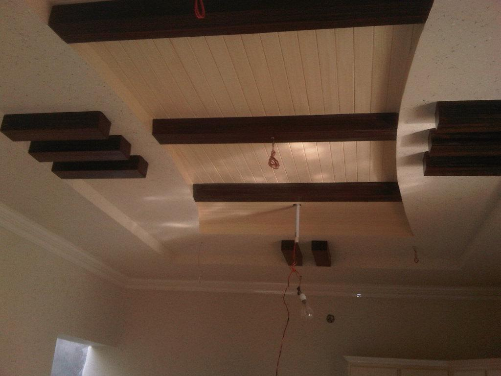 Pop with wood ceiling design gharexpert for Bedroom false ceiling designs with wood