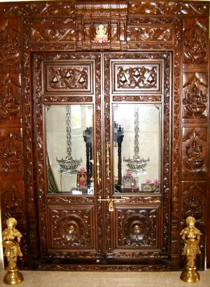 9 Traditional Pooja Room Door Designs In 2020: Top 9 Pooja Room Door Designs