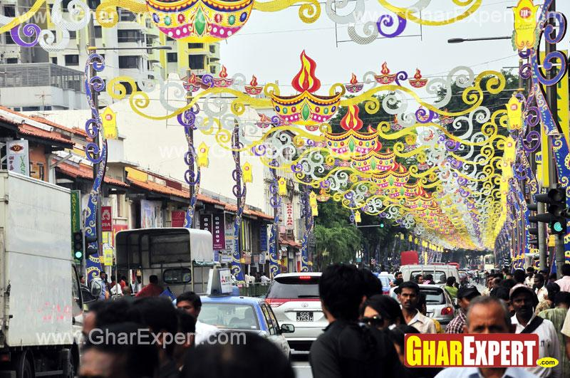 Street decorations on ganeshch....