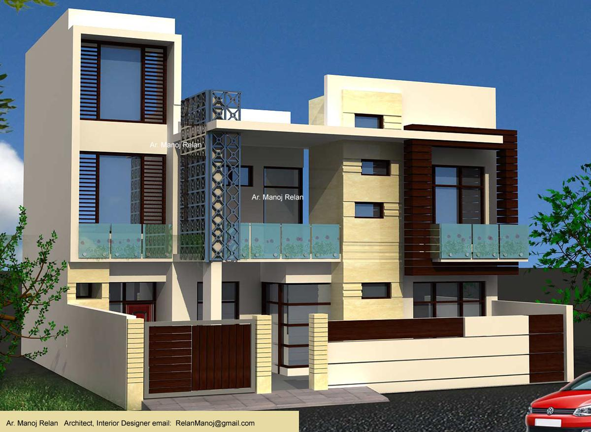 Front Elevation Cladding Design : Exterior elevation d concept with italian cladding