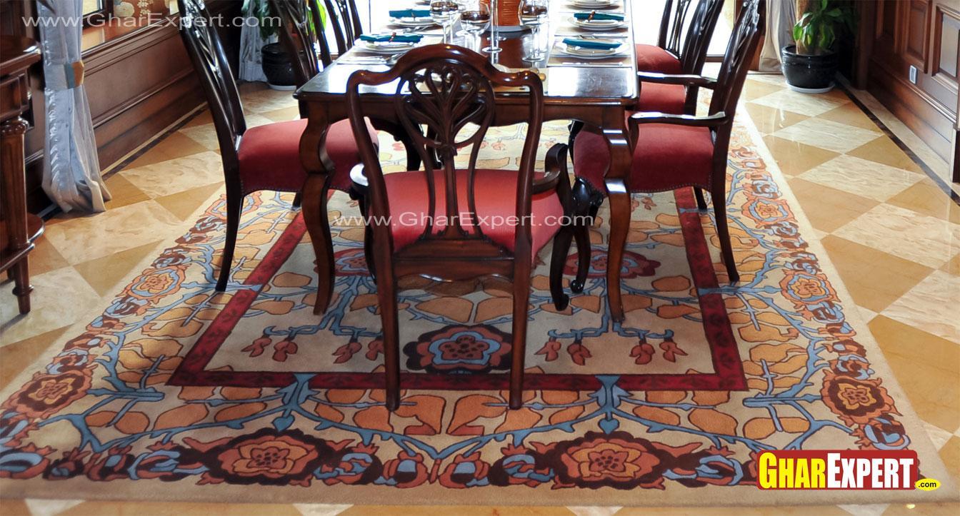 Floral carpet design for 8 sea....