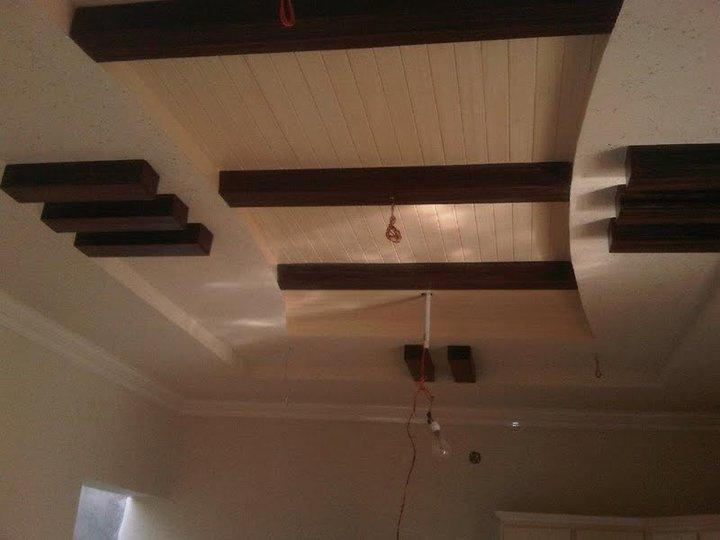 False ceiling design with wooden batons gharexpert for Bedroom false ceiling designs with wood