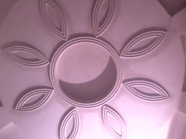 Pop false ceiling flower pattern by maqbool intirior for Pop design flower
