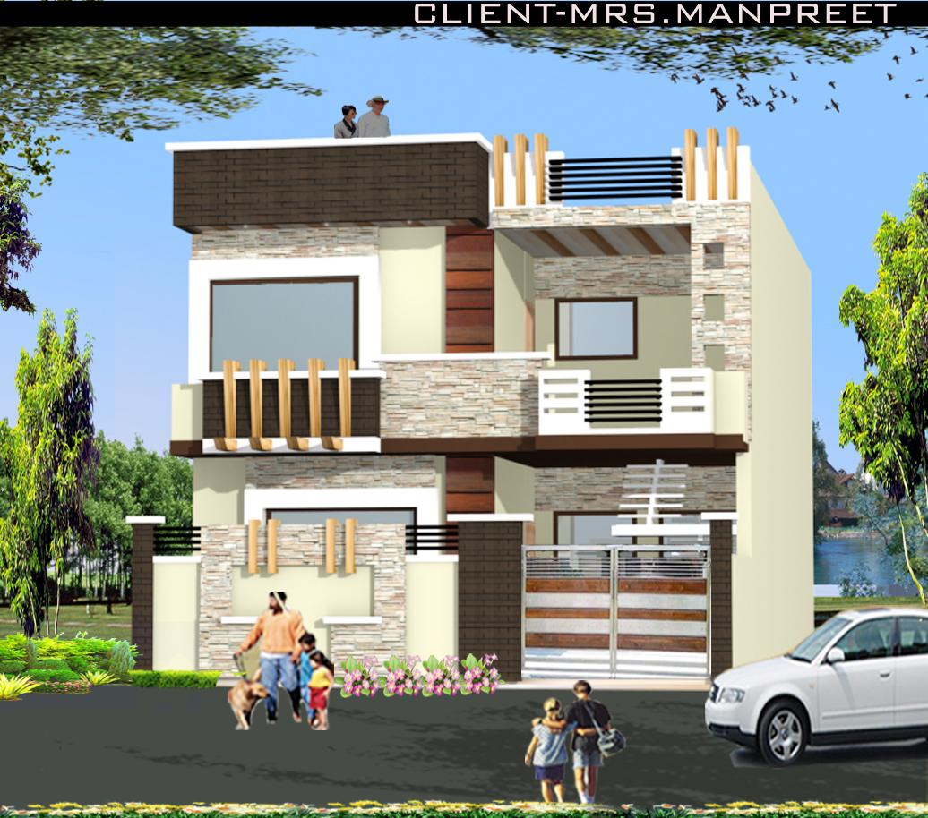 Front Elevation For Double Floor House : Double story home elevation design gharexpert