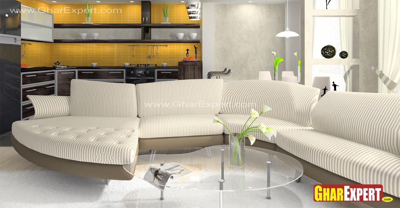 Upholstered Modular sectional ....