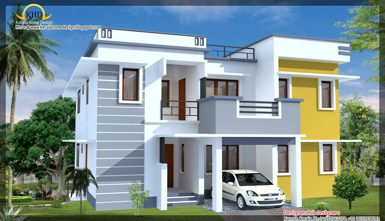 New House Front Elevation Photos : Modern style house d elevation gharexpert