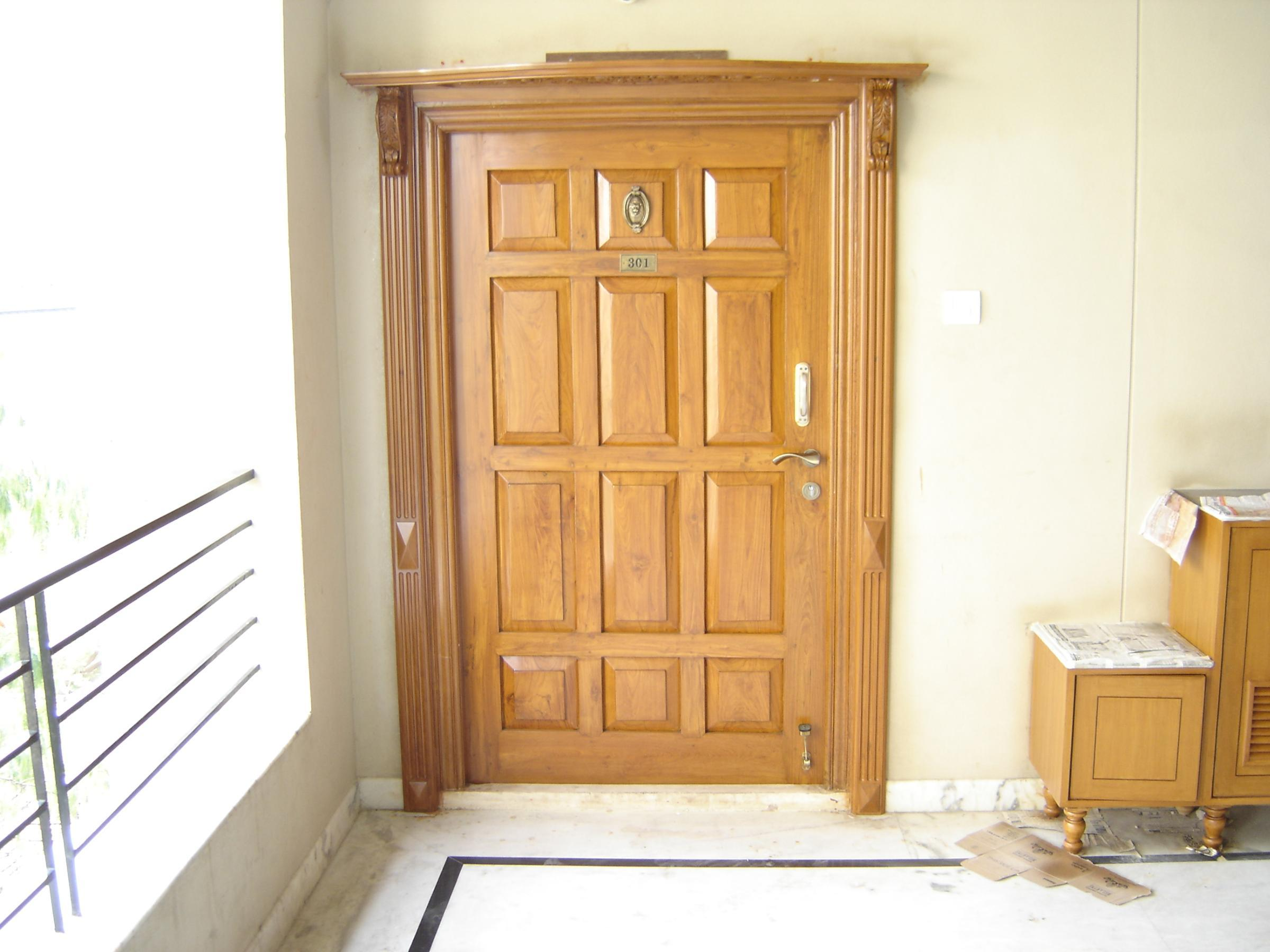Main door gharexpert for Entrance door designs for flats in india