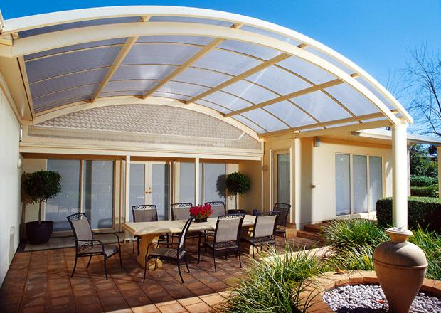 Veranda With Curved Roof GharExpert