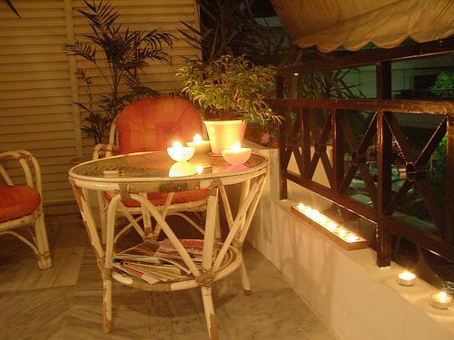 Night View Of a Veranda