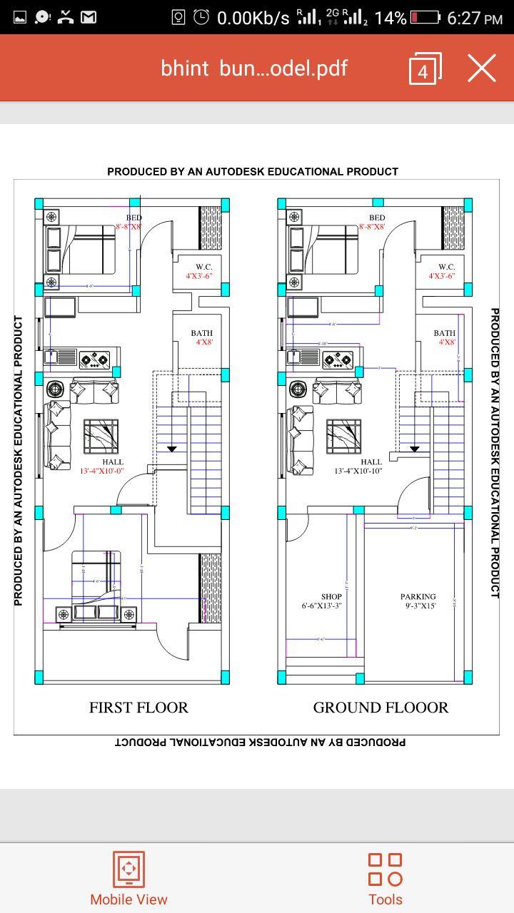 G+1 House plan