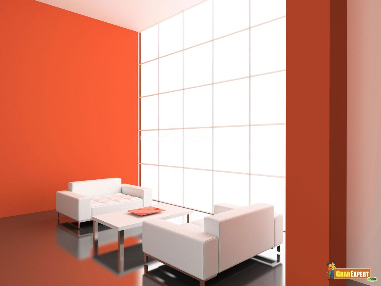 Wall paint in a drawing room gharexpert for Nerolac texture paint designs living room