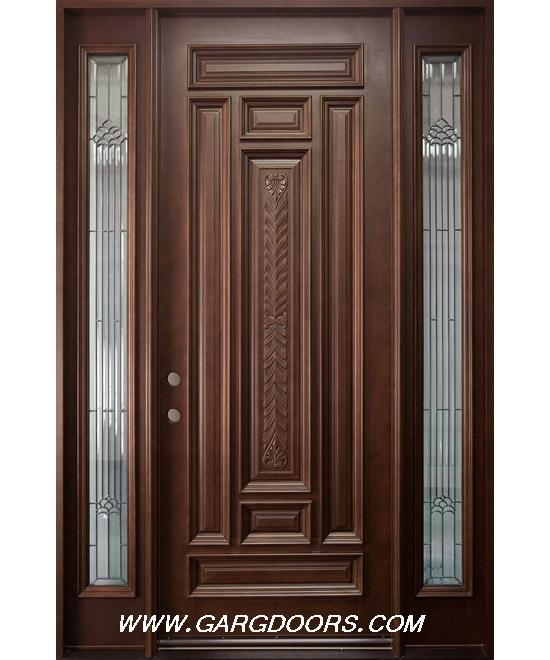 Hard wood teak main door gharexpert for Single main door designs for home