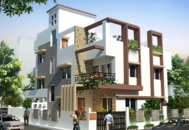 triplex_House _Plan_Front_Elev....