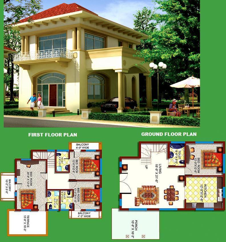 3d Exterior Elevation Design With Floor Maps Gharexpert
