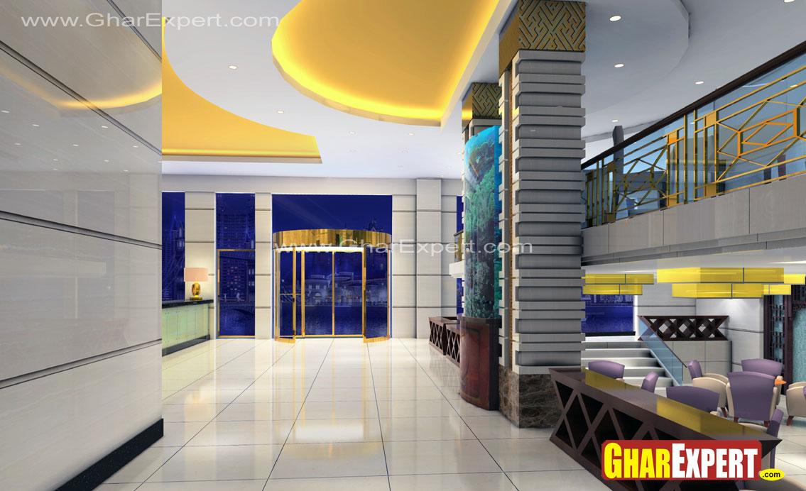 3D interior view of reception ....