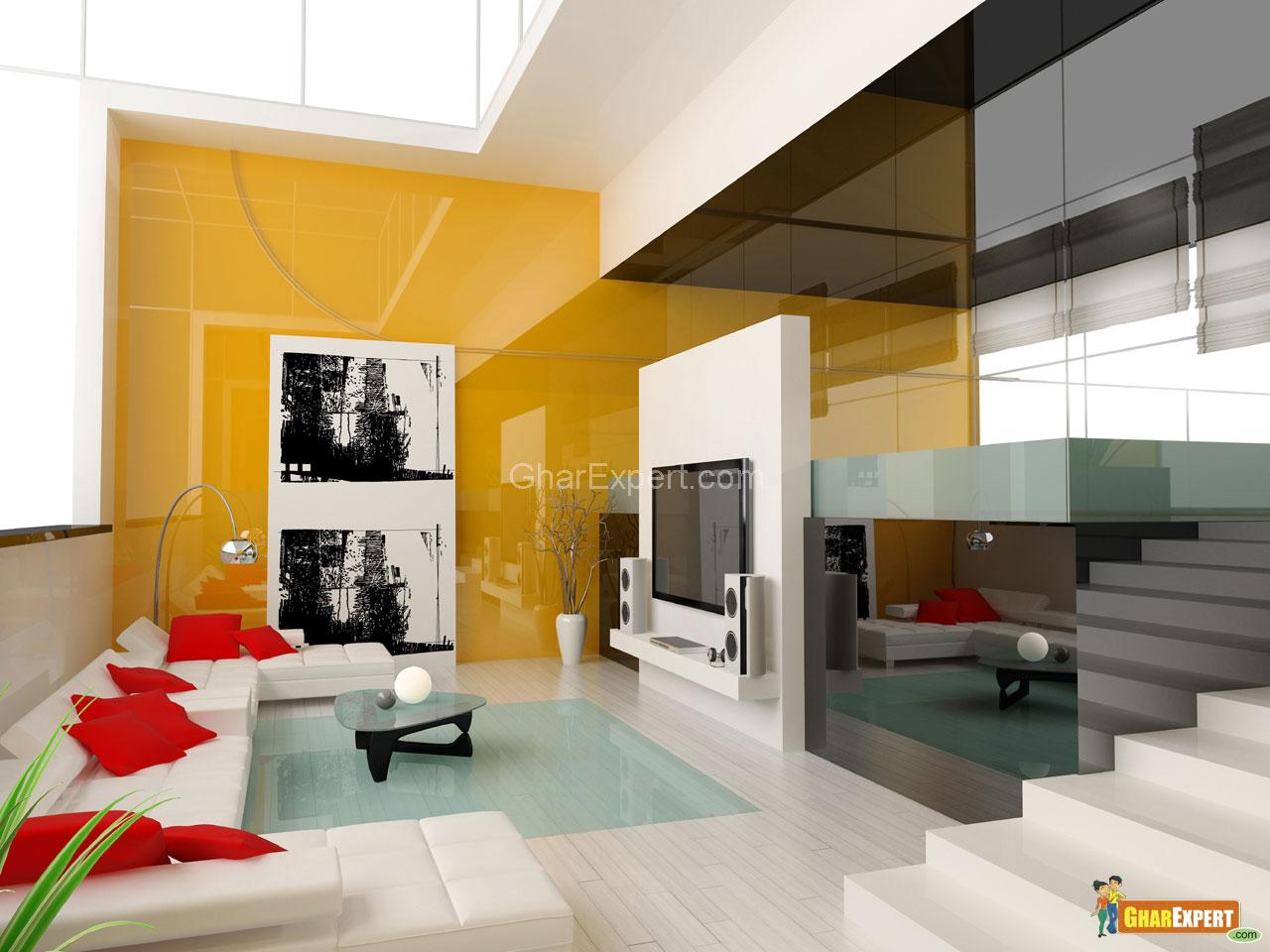 Modern drawing t v room gharexpert for Design interieur maison limoges