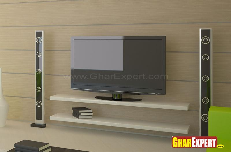 Lcd wall unit design gharexpert for Latest lcd wall unit designs