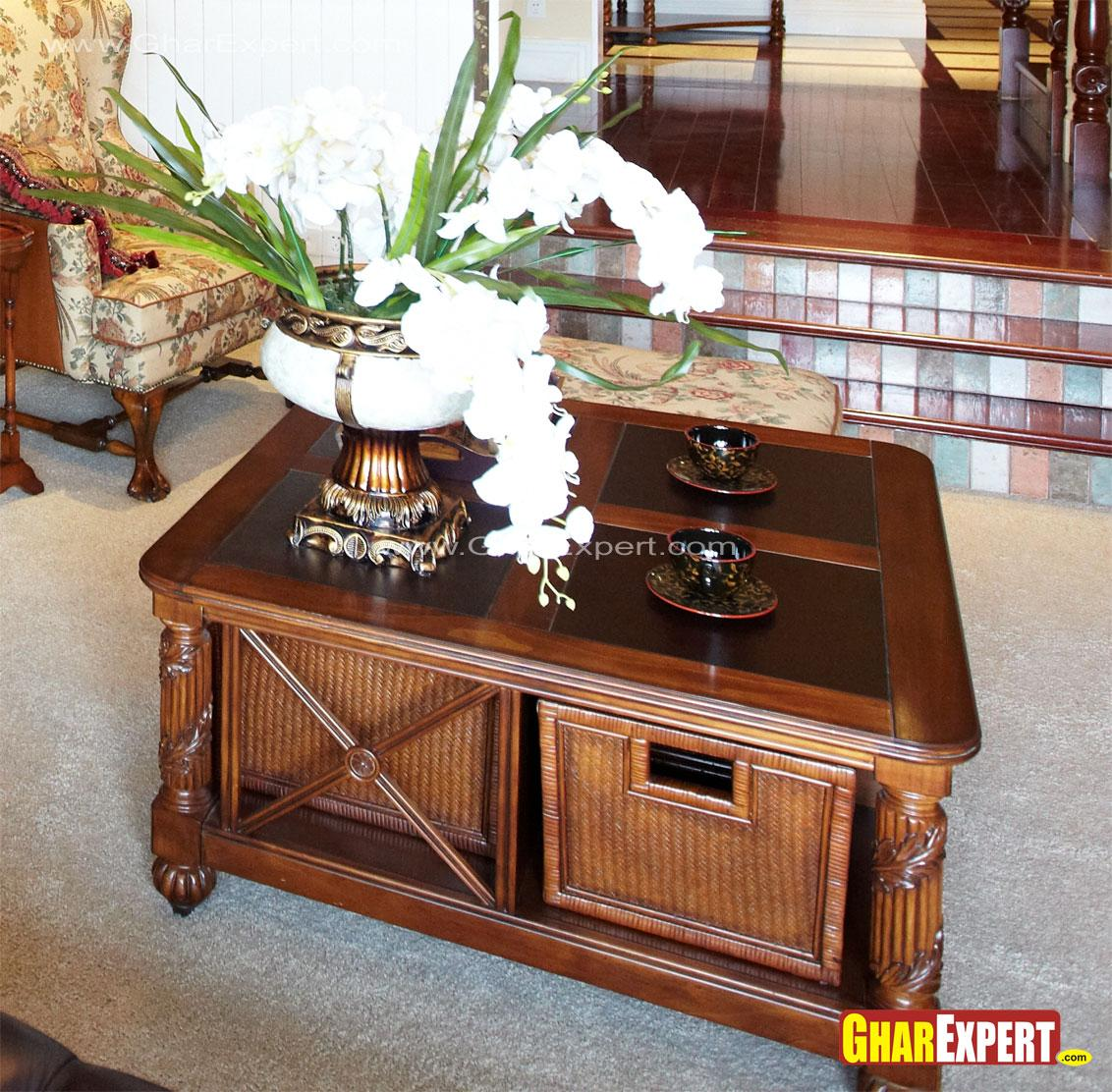 Wooden center table with under....