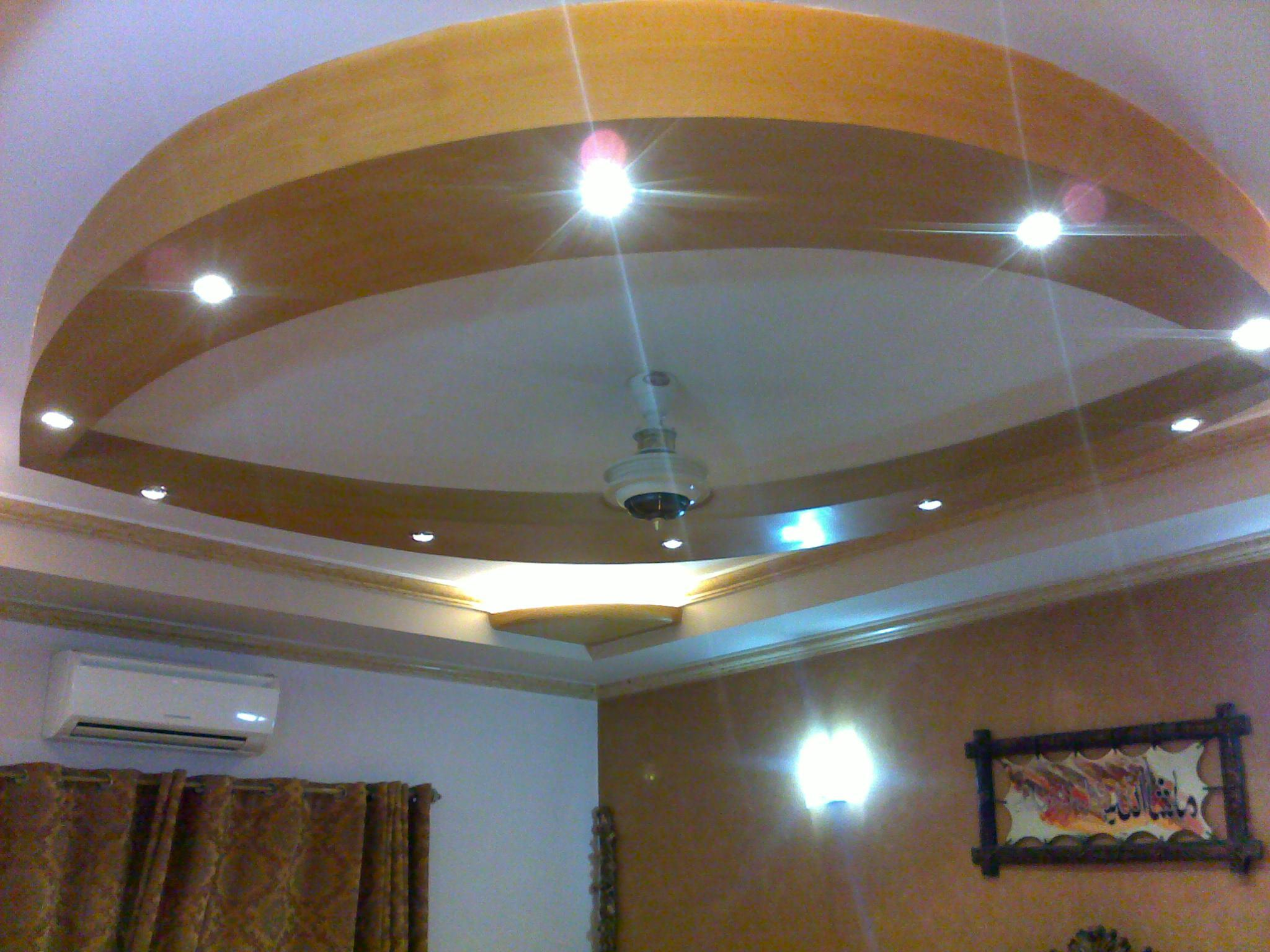 Wooden Ceiling Design With Lights GharExpert